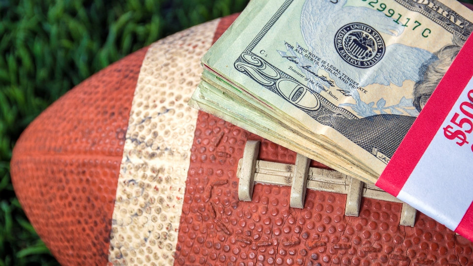 Sports betting, football, money