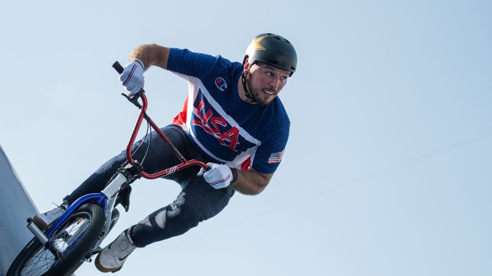 United States' Nick Bruce trains at the 2020 Summer Olympics, Wednesday, July 28, 2021, in Tokyo, Japan. (AP Photo/Kyusung Gong)