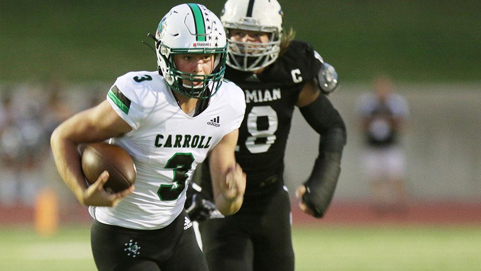 Southlake Carroll quarterback Quinn Ewers (3)