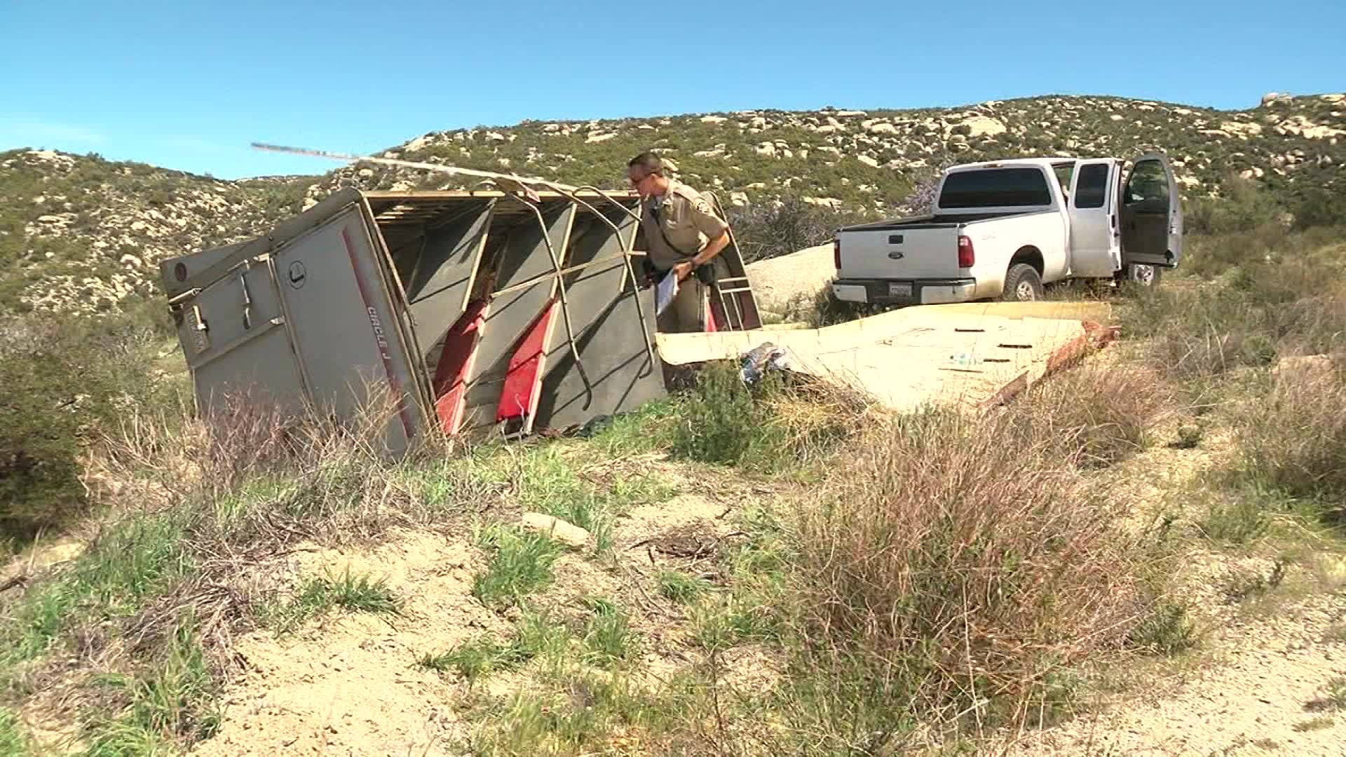 Trailer carrying undocumented immigrants flips over during human smuggling attempt
