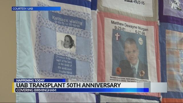 UAB to celebrate 50th anniversary of 1st Alabama transplant