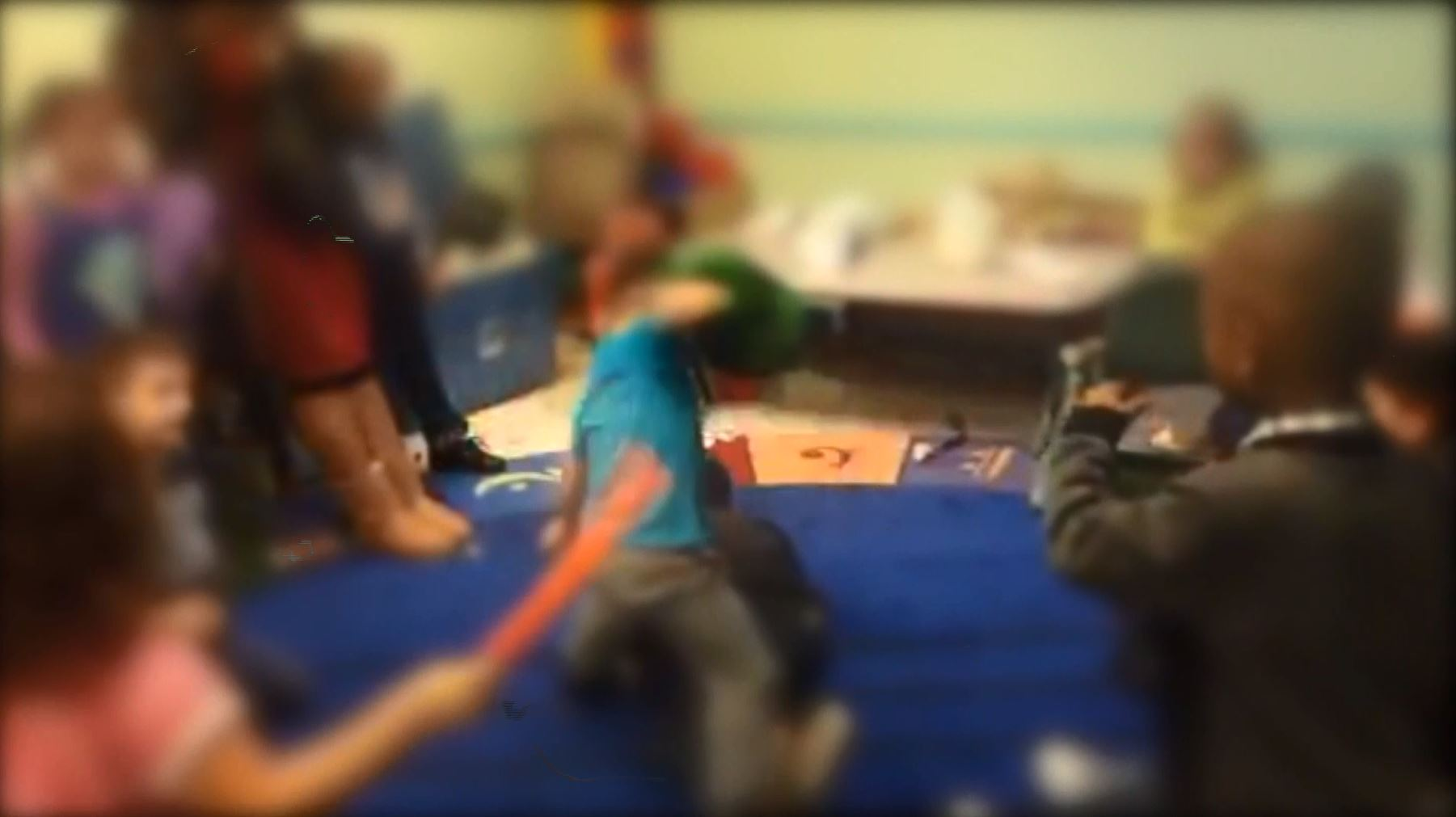 Daycare 'fight club' caught on camera