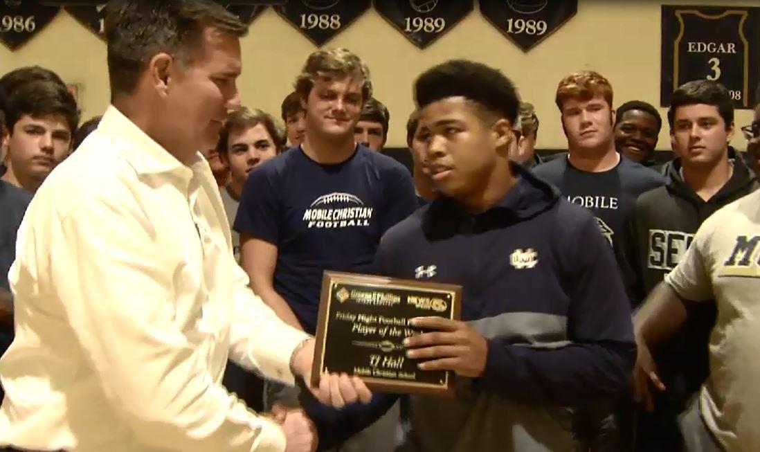 Video: Mobile Christian senior wins Week 11 Player of the Week award