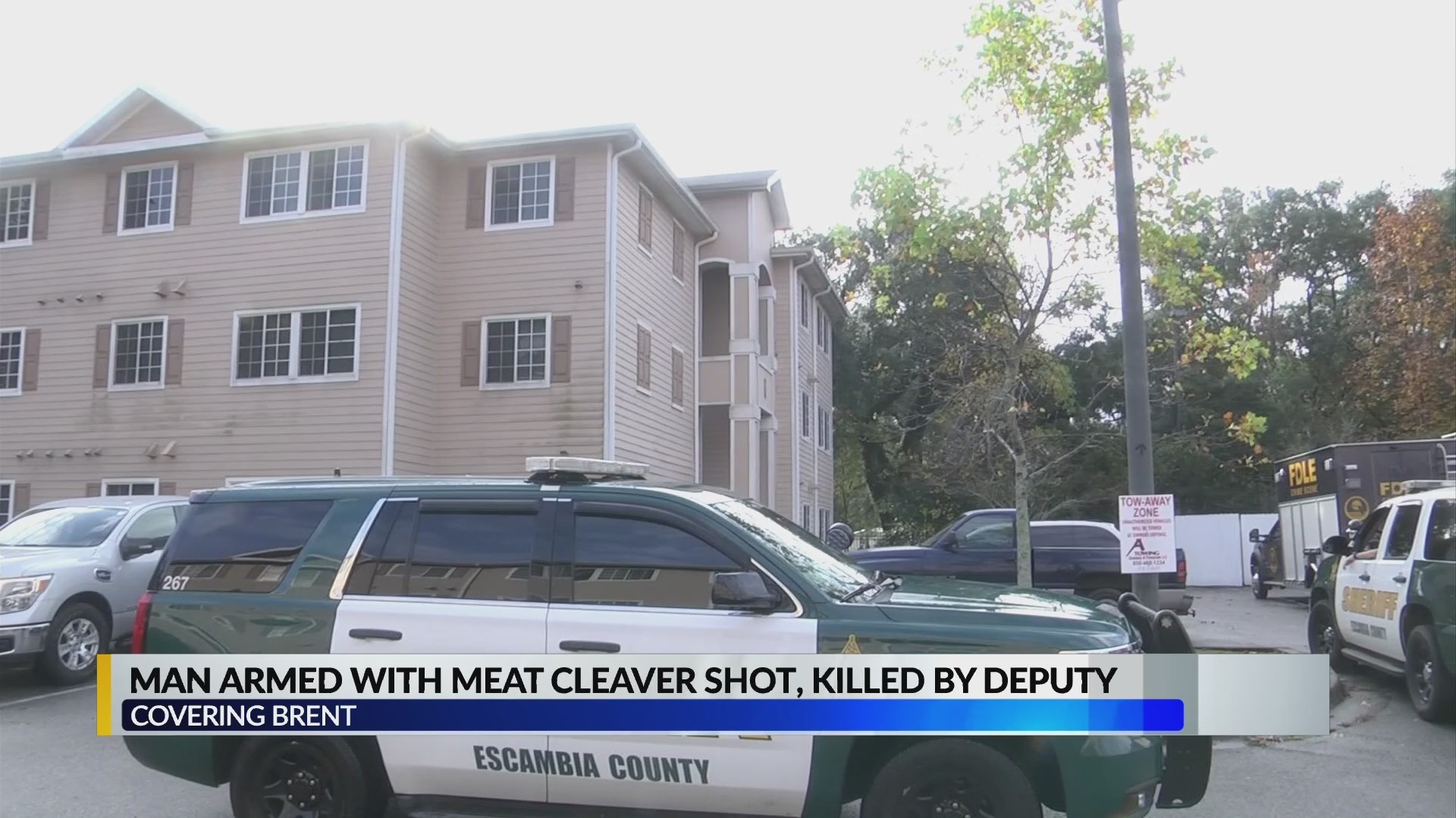 Deputies kill suspect allegedly holding meat cleaver in Escambia County