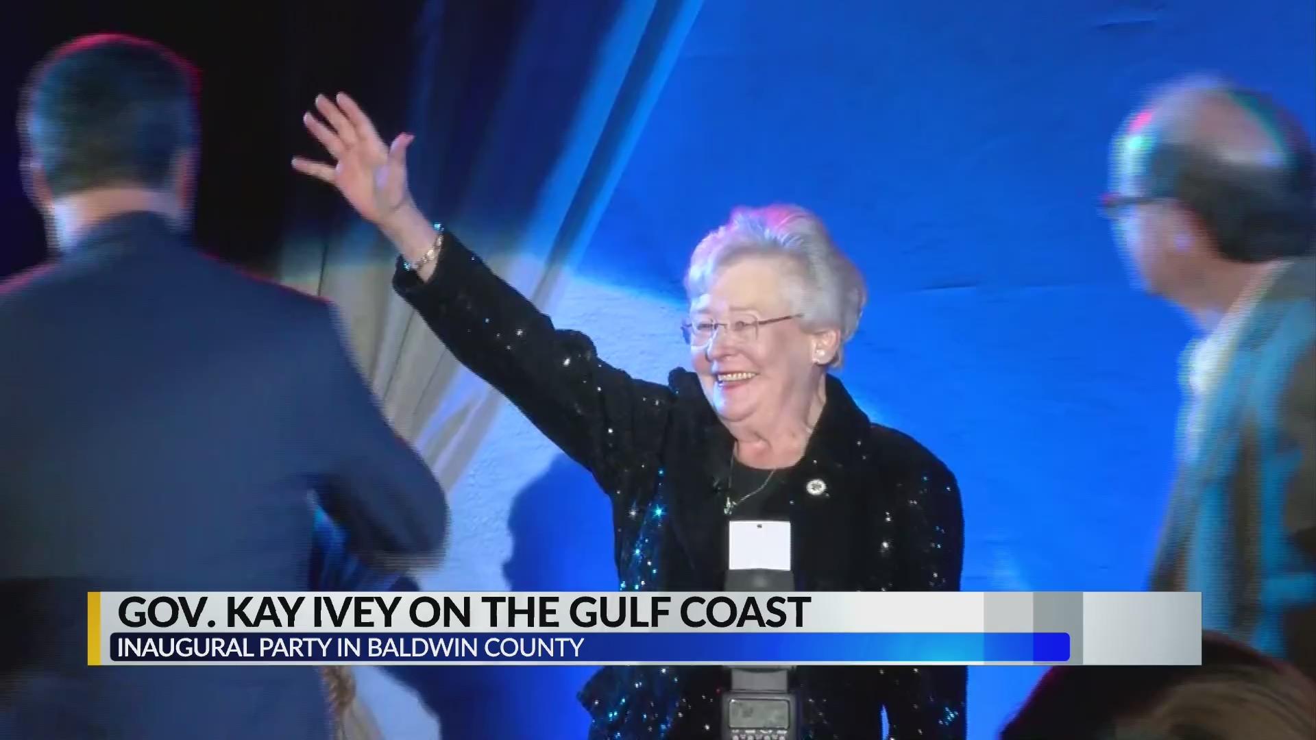 Governor Kay Ivey kicks off inauguration celebrations on Gulf Coast.