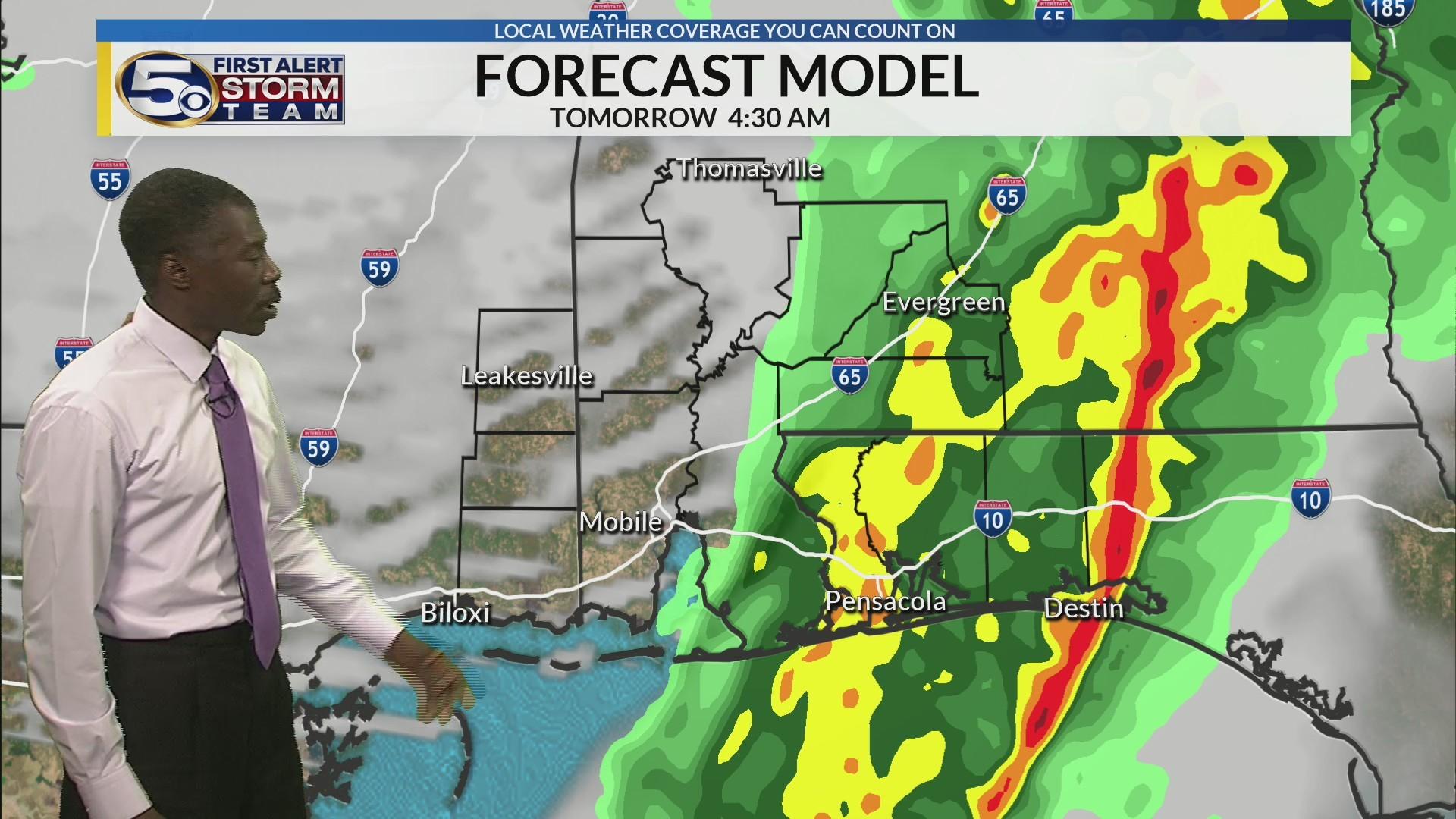 Rain overnight, exits early tomorrow