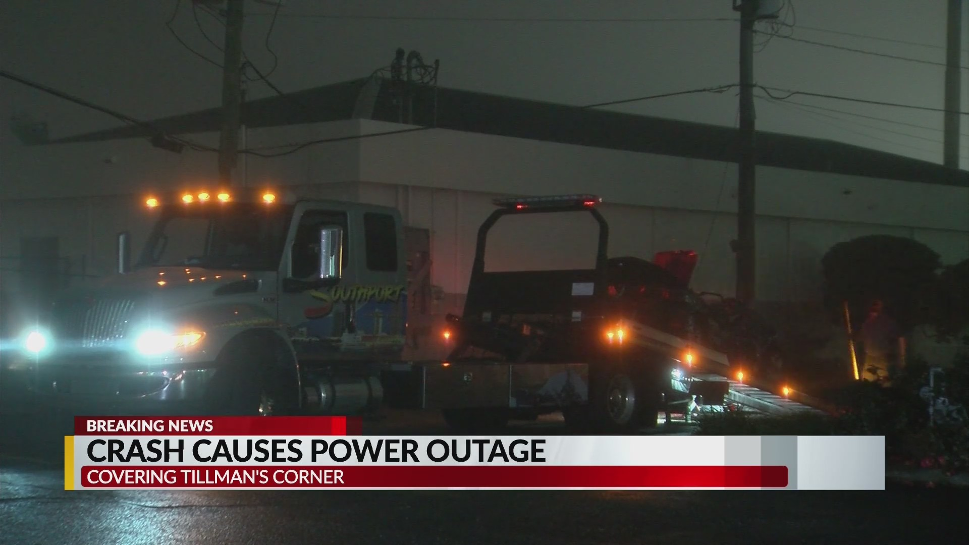 Tillman's Corner Crash and Power Outage