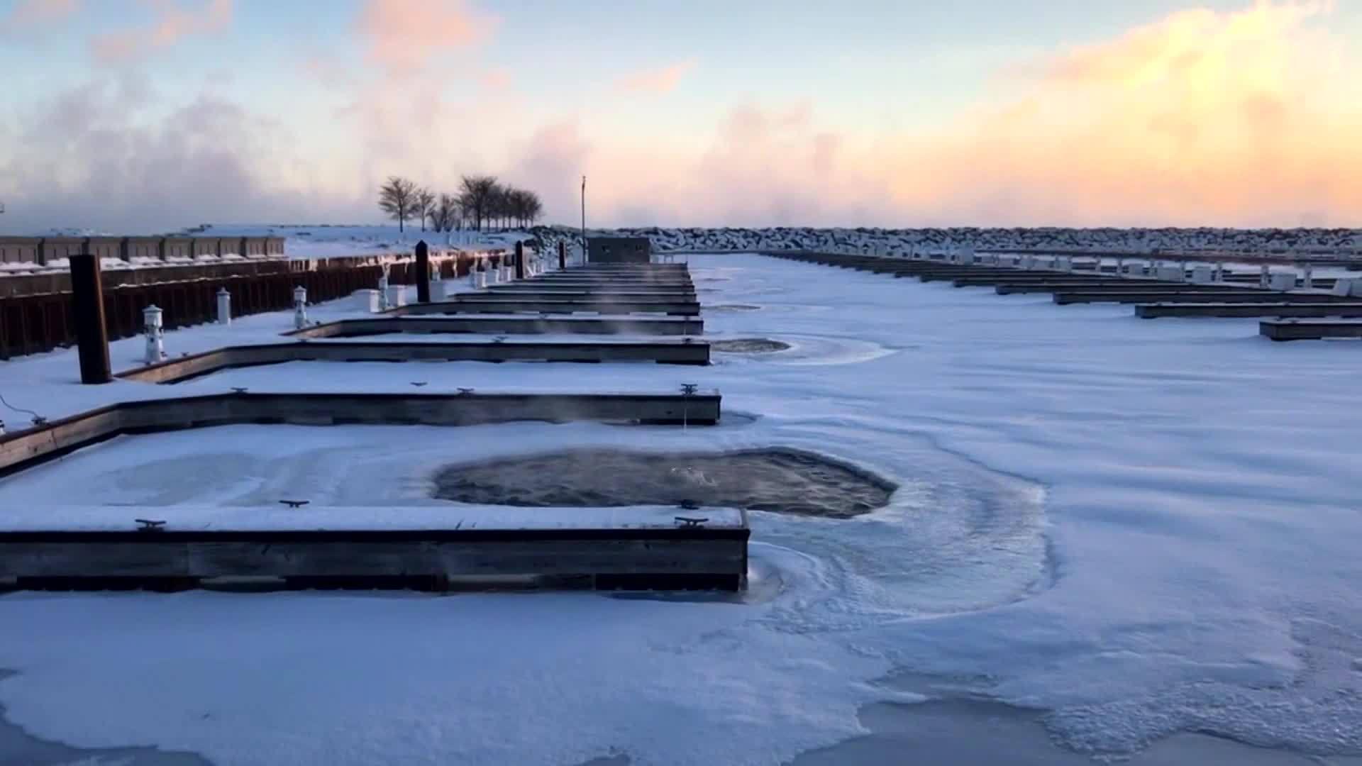 WATCH: Sights from frigid Chicago