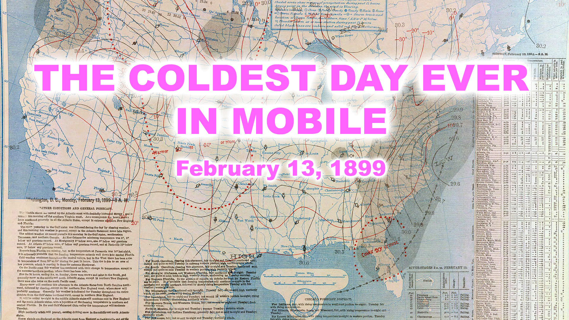 The coldest day ever, in Mobile on nick map, hong map, qing map, lockdown map, sui map, marshall map, matteo ricci map, wu map, murray map, creole map, dynasty ancient japan map, western han map,
