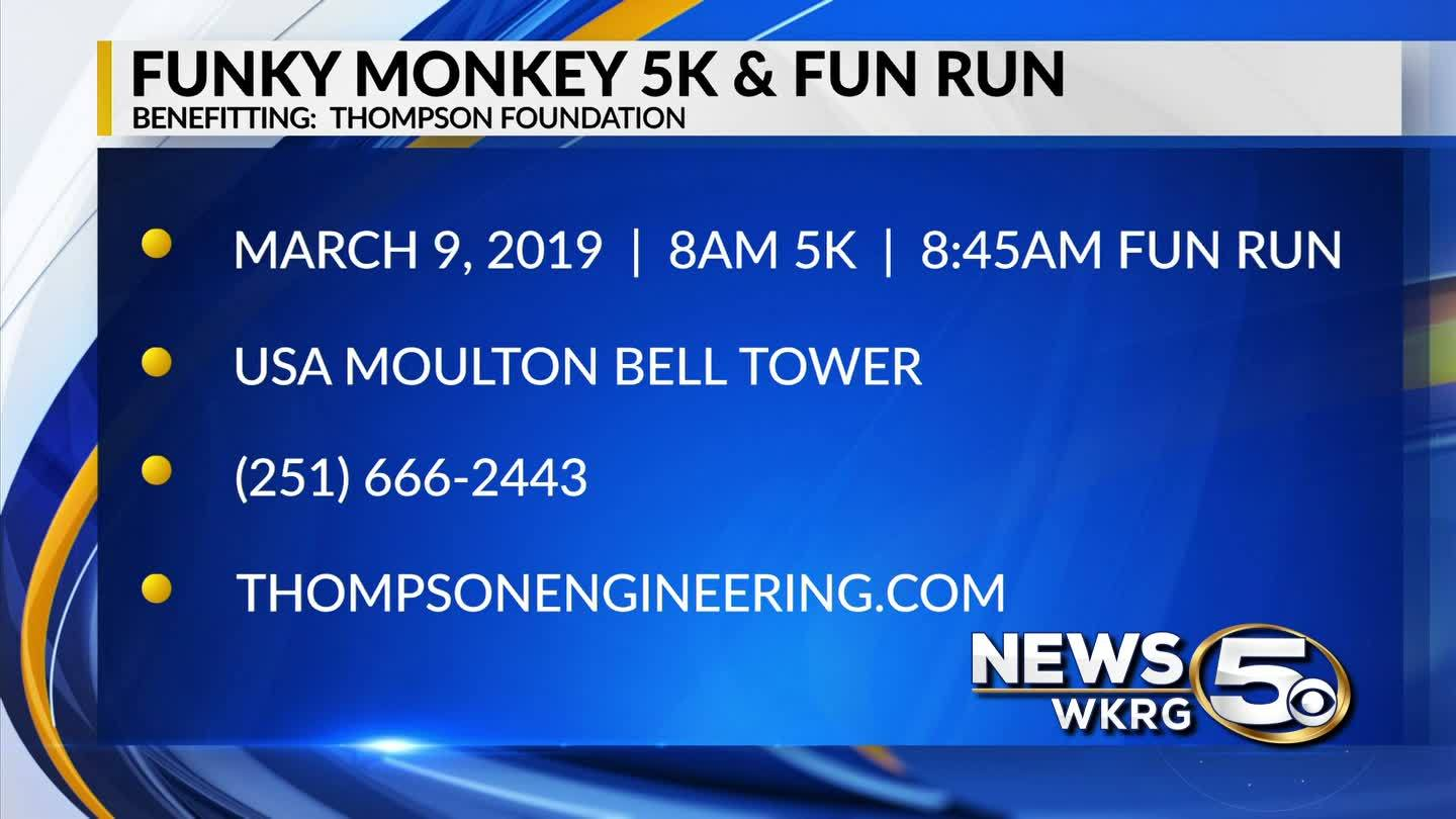 Funky Monkey 5K & Fun Run March 9 at USA