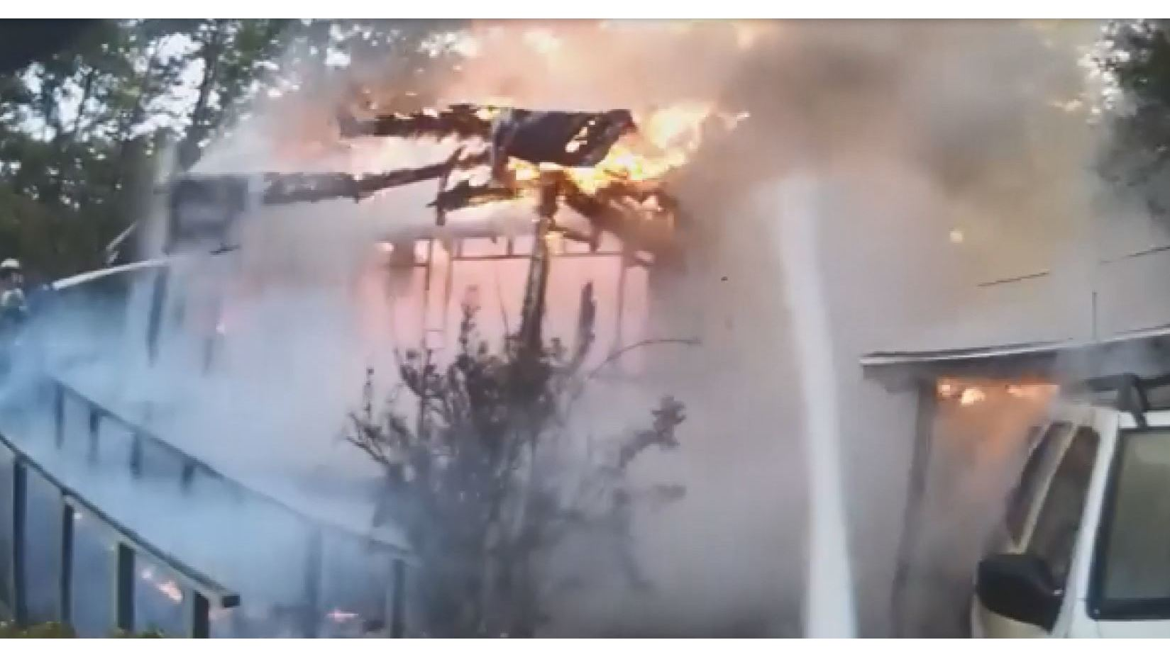 Firefighters release new video of fire that injured a man on Dauphin Island Parkway