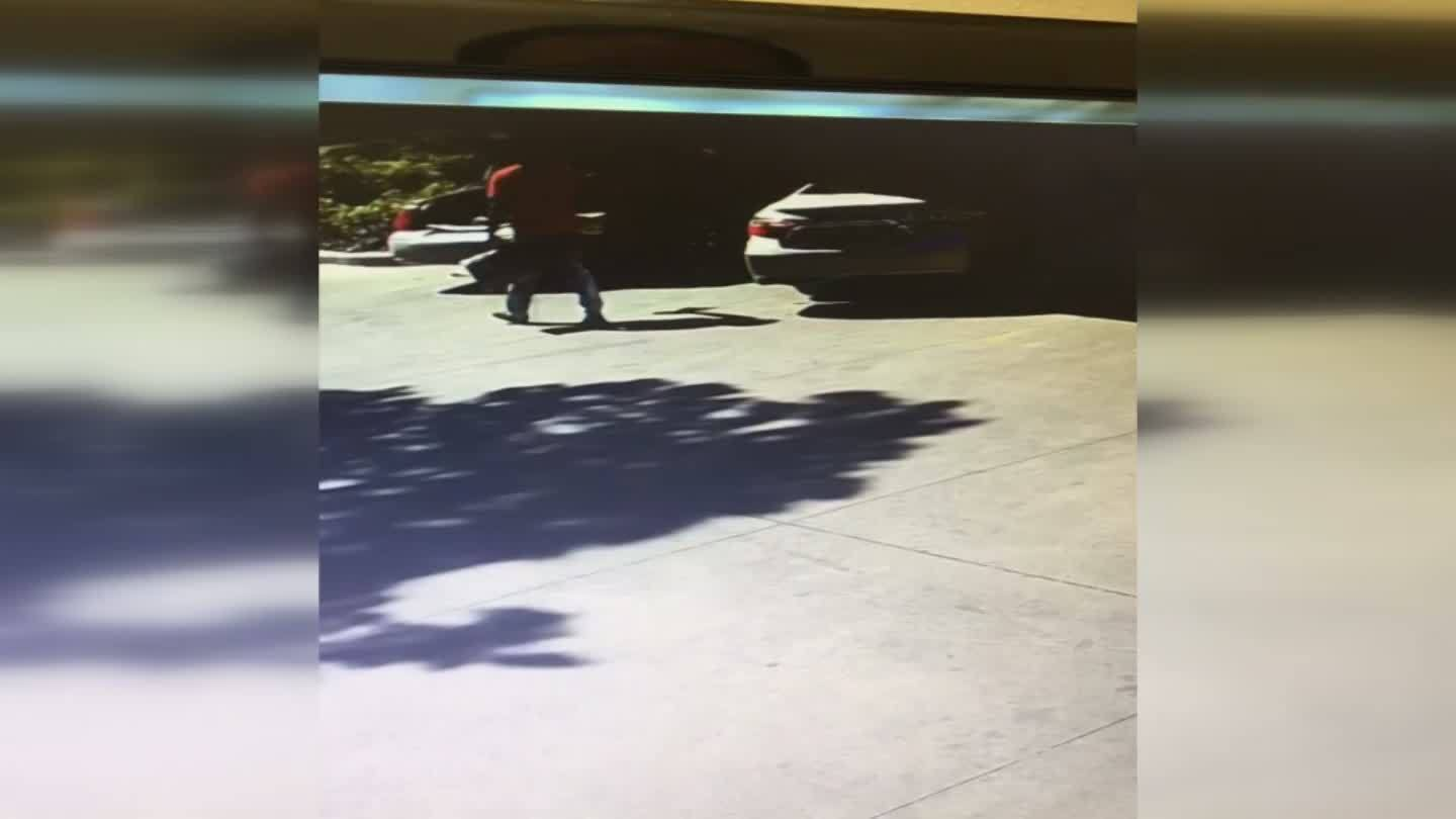 Man caught on camera stealing bag from car wash