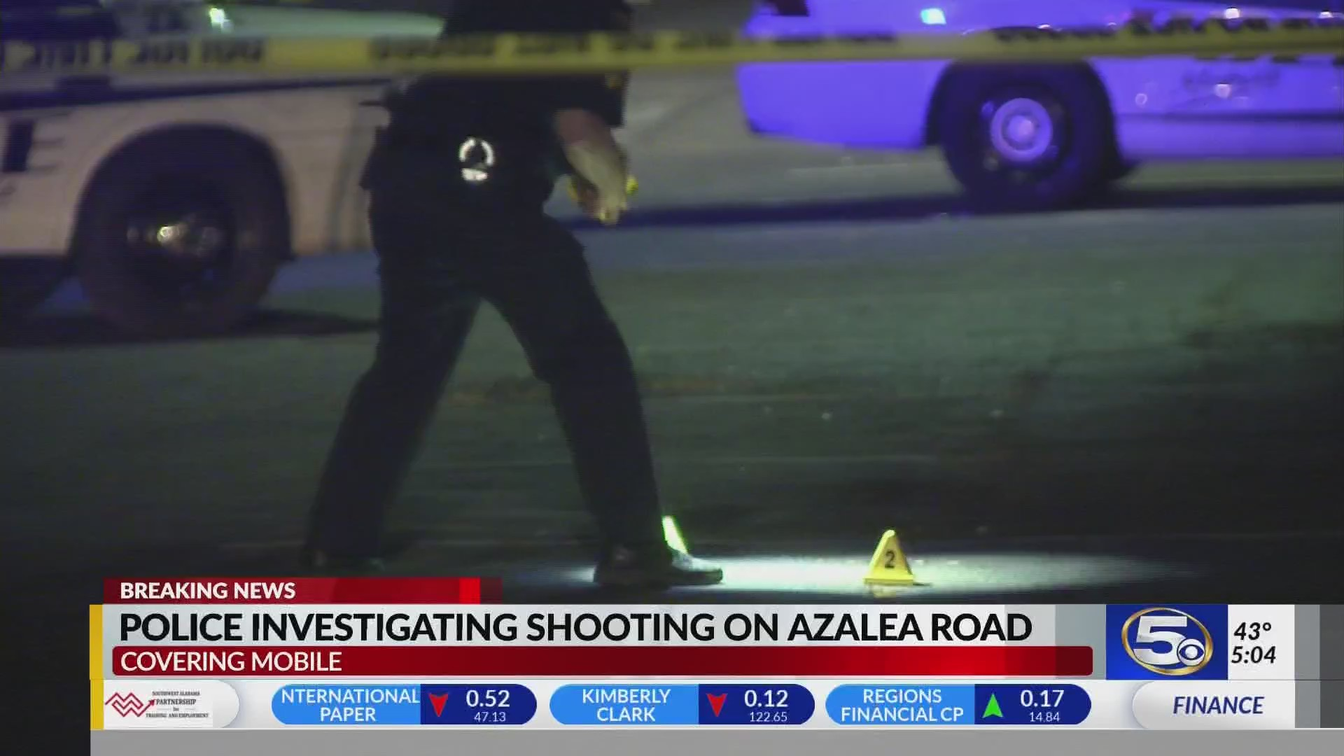 Mobile Police investigate shooting at Azalea Pointe Apartments