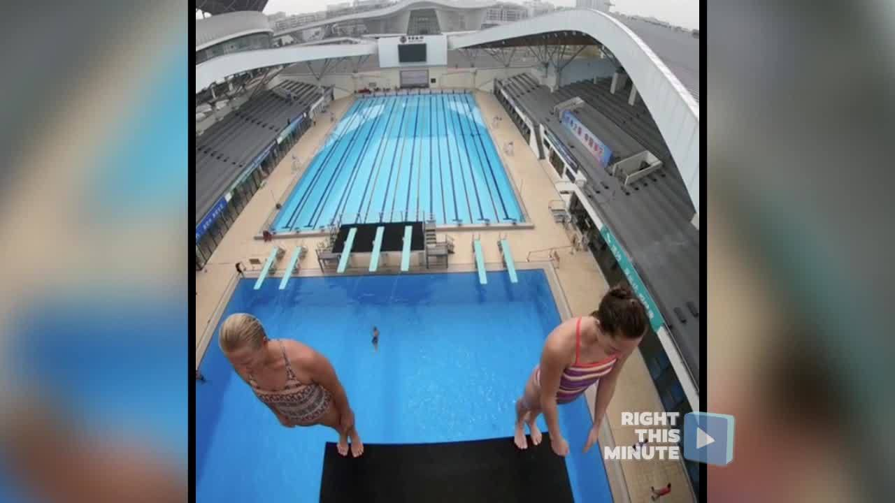 Right This Minute Moment: Impeccable Synchronized High Dive Routine