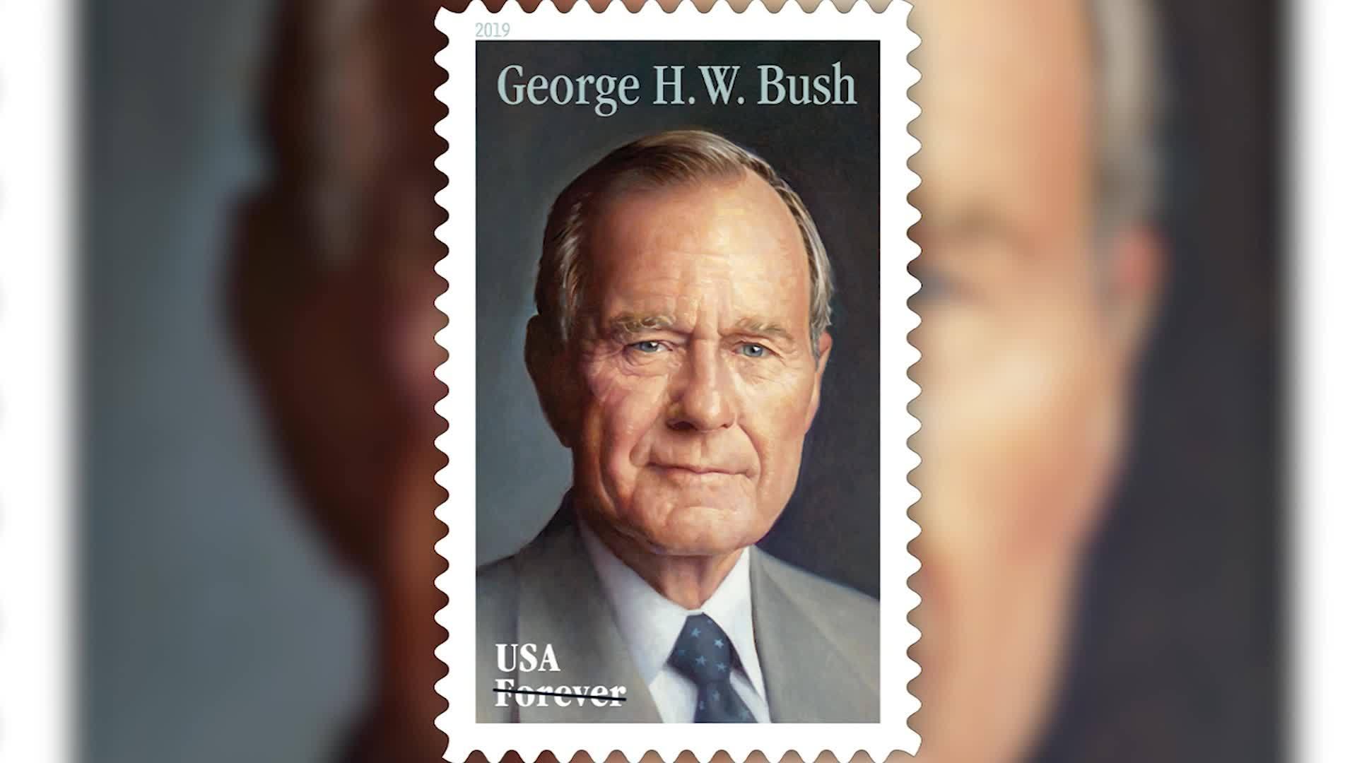 USPS unveils stamp honoring George H. W. Bush
