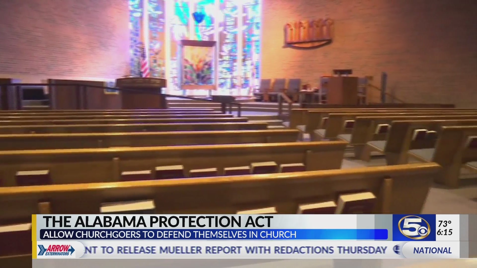 VIDEO: Alabama bill would allow guns in church