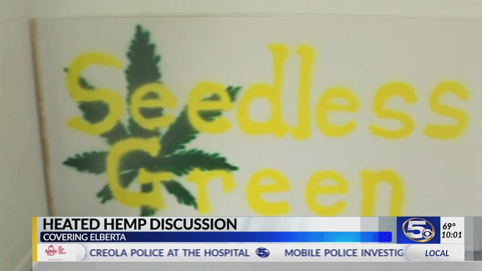 VIDEO: Elberta residents more concerned about stigma, sign, than hemp dispensary itself
