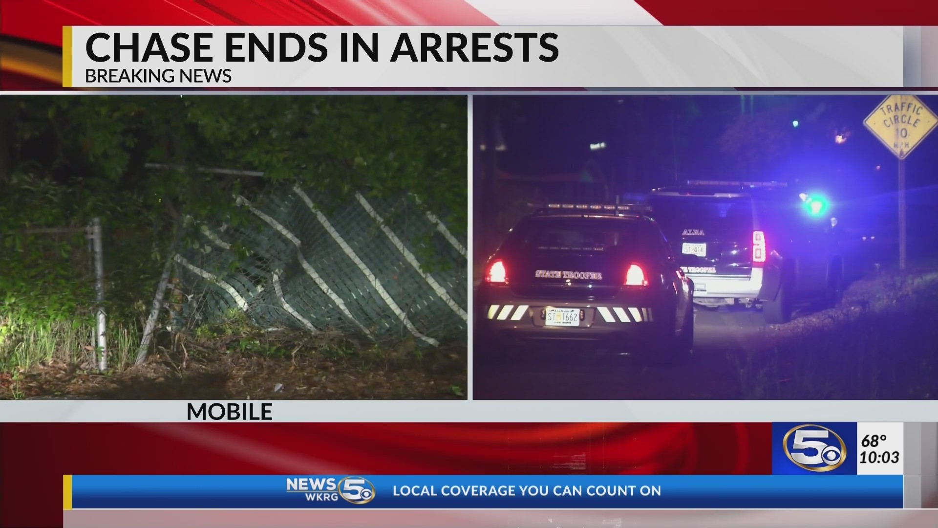 VIDEO: Police chase ends in crash, multiple arrests in Maysville Community