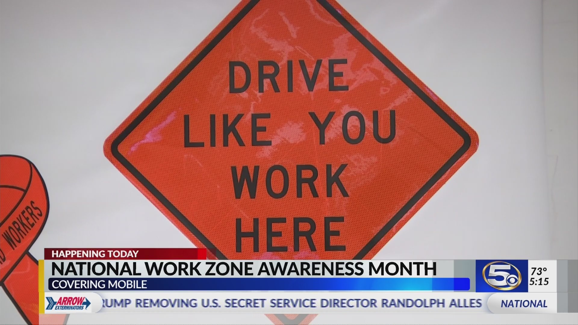 "VIDEO: ""Work Zone Awareness Week"" starts today, follows work zone death last month"