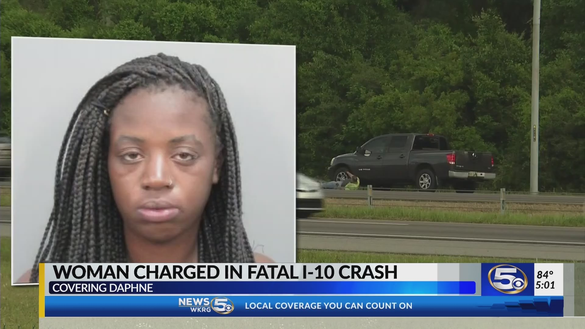 Arrest in Baldwin I-10 motorcycle crash, victim identified