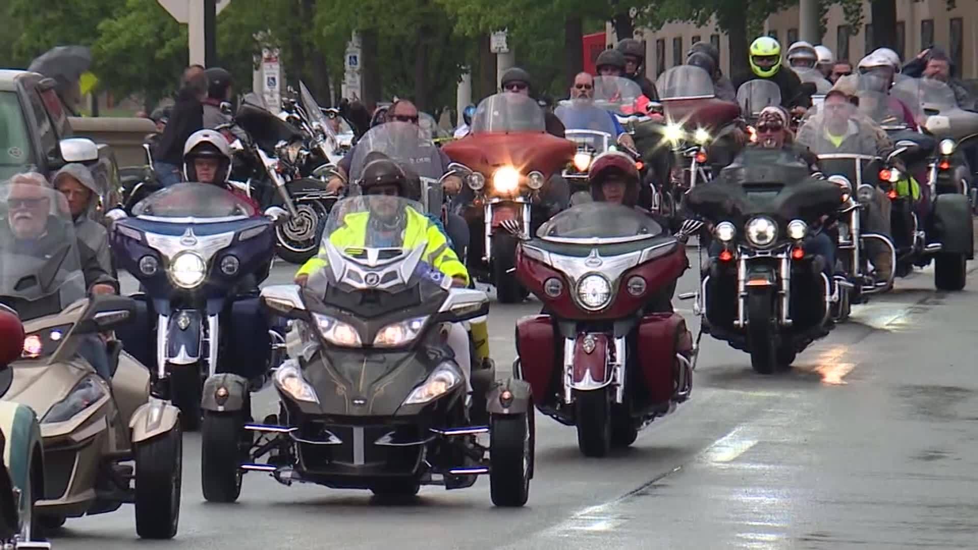 Bikers honor fallen firefighters