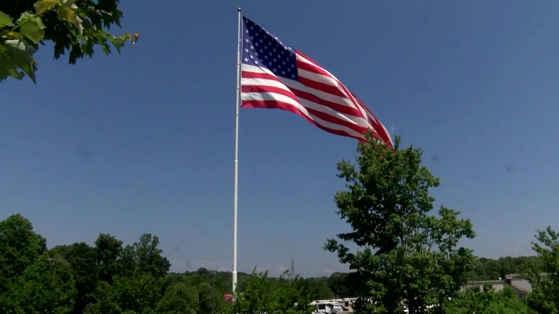 NC flag upset