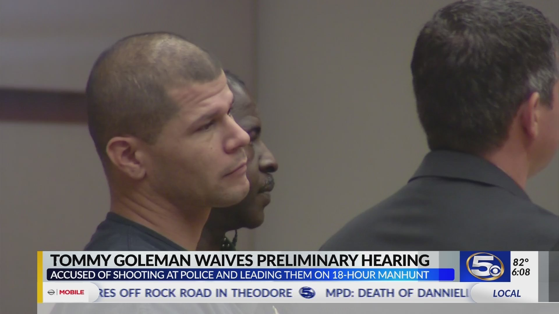 VIDEO: Tommy Goleman in court Tuesday