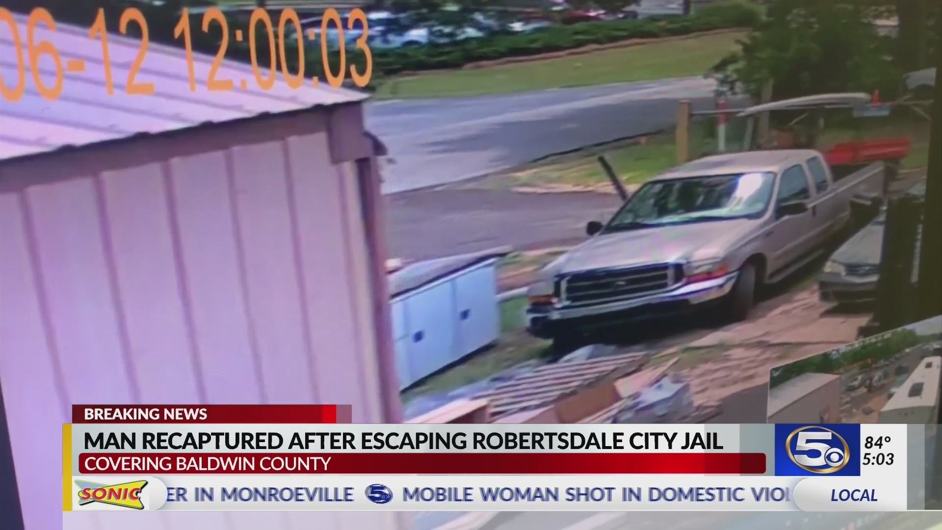 VIDEO: Man who escaped from Robertsdale jail captured after pursuit