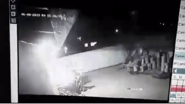 Family catches stranger setting home on fire