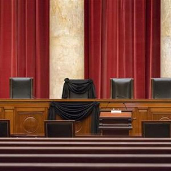 Antonon Scalia seat draped_258388