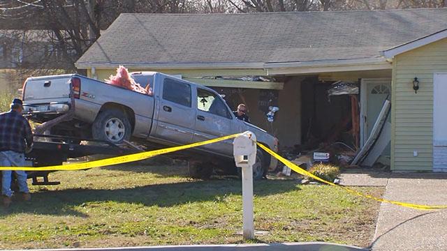 Stolen truck into home_350334