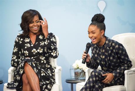 Michelle Obama and Yara Shahidi_386268