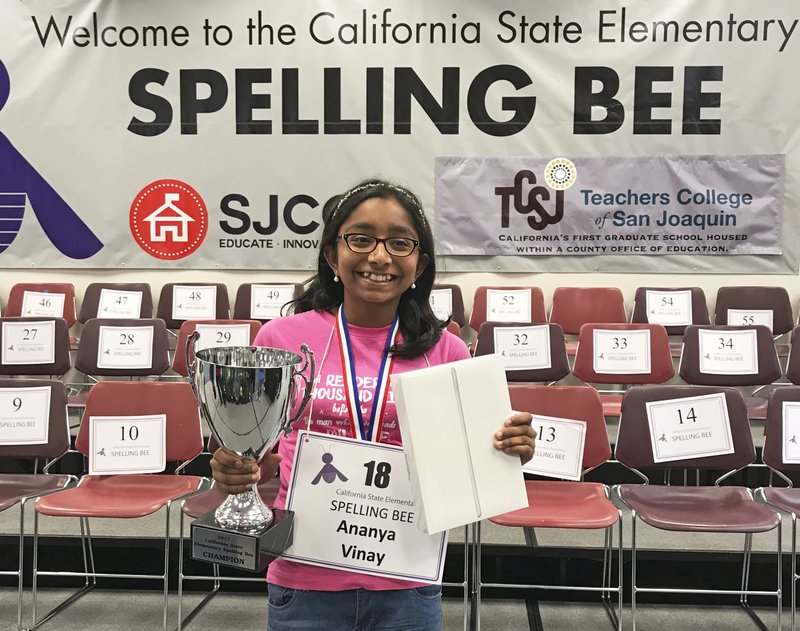 12 Year Old Wins 3rd Straight California State Spelling Bee