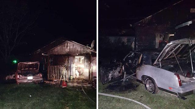 Chadwick Drive car house fire shooting_455459