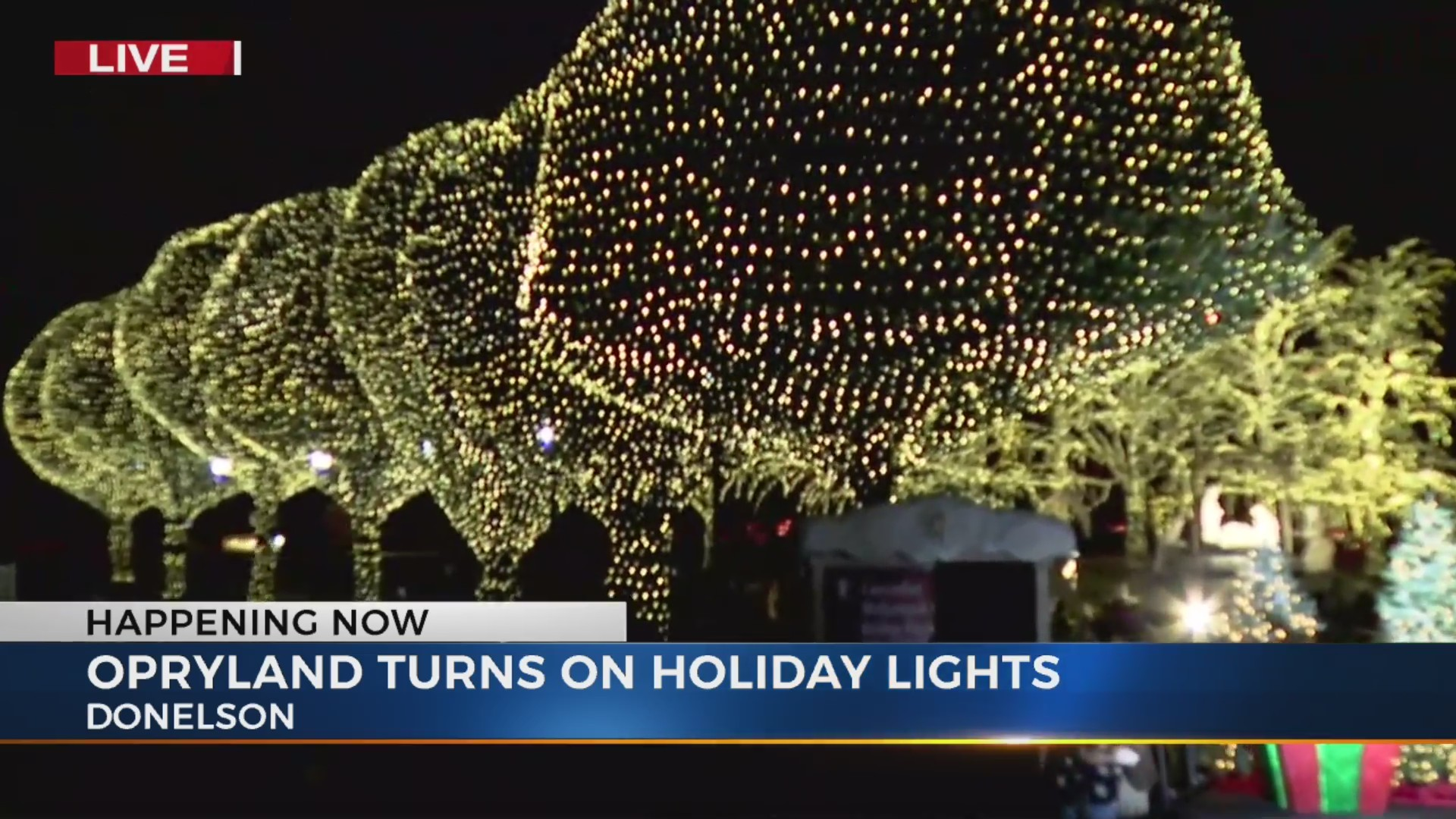 Opryland Christmas.Gaylord Opryland Turns On 3 Million Holiday Lights
