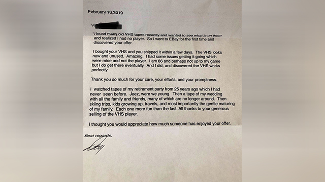 READ: 86-year-old man sends thank you letter to man who sold