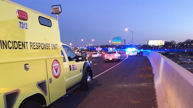 6 cars damaged on I-24
