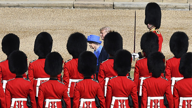 Trump visits England