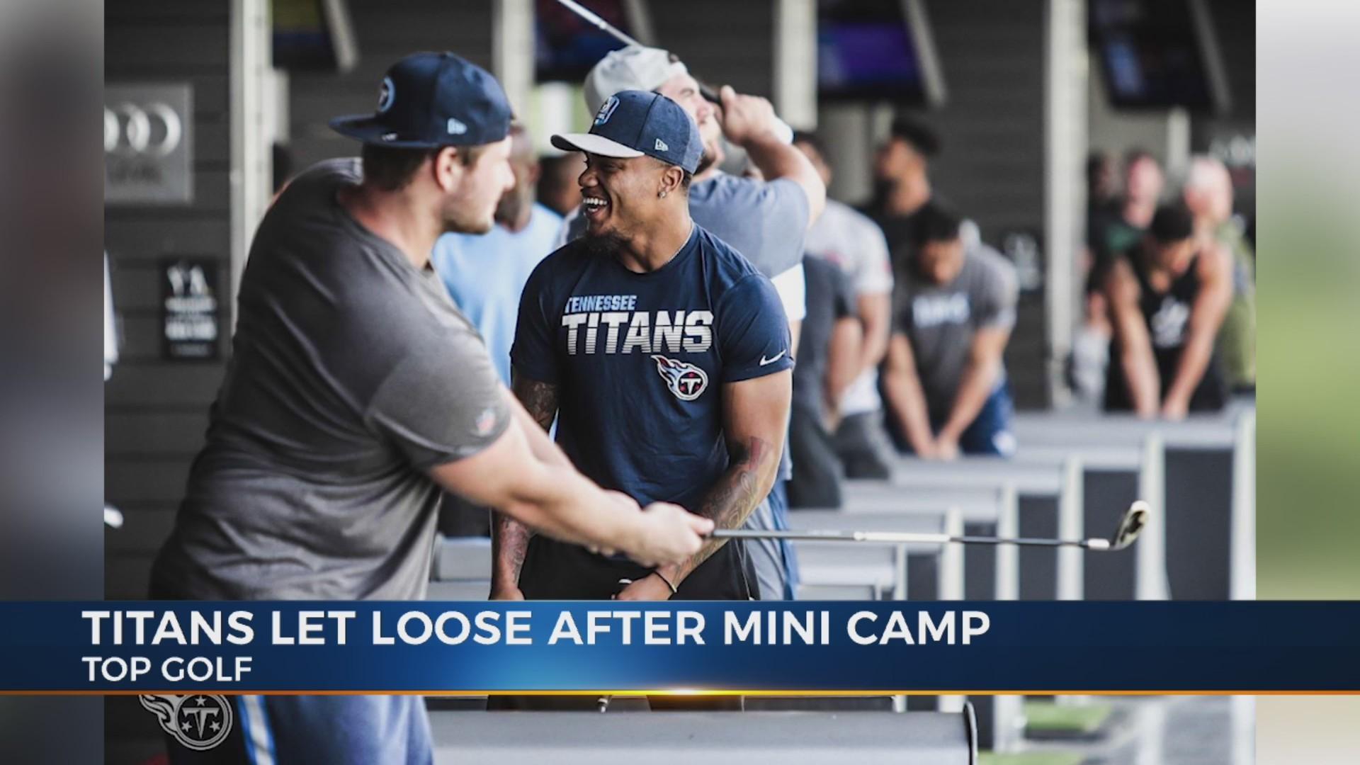 Titans scrap final minicamp session for escape to Topgolf