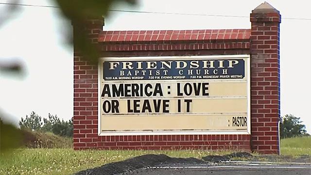 Virginia church sign