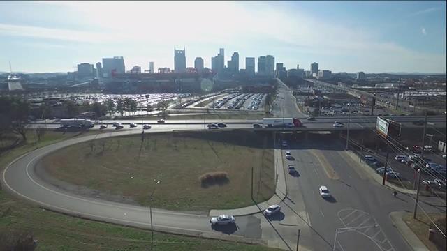 Nashville skyline drone generic