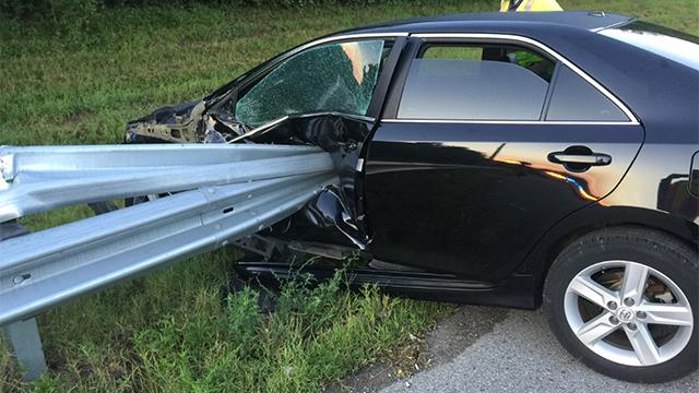 I-40 guardrail crash