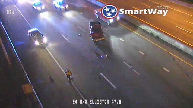 Metro officer involved crash I-24