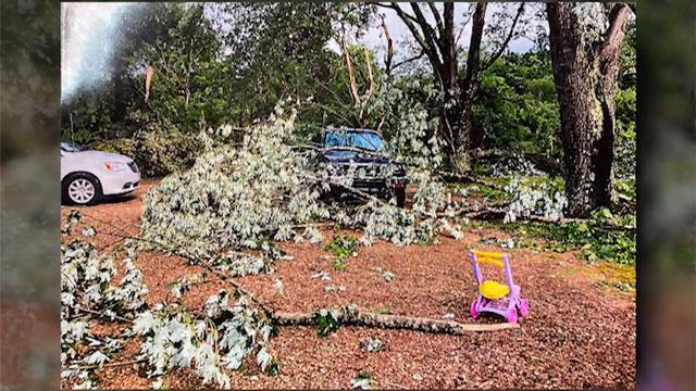 Macon County storm damage