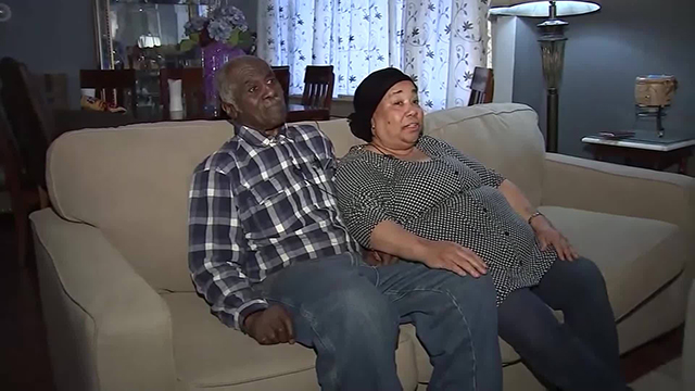 Elderly couple mistaken