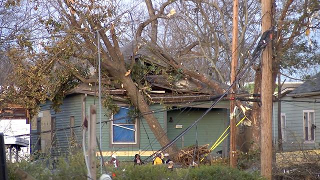 North Nashville tornado damage