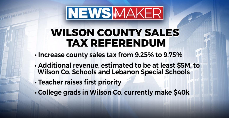 Wilson County Sales tax referendum