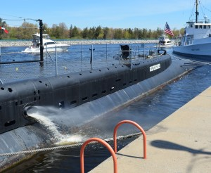 The USS Silversides demonstrates its power.
