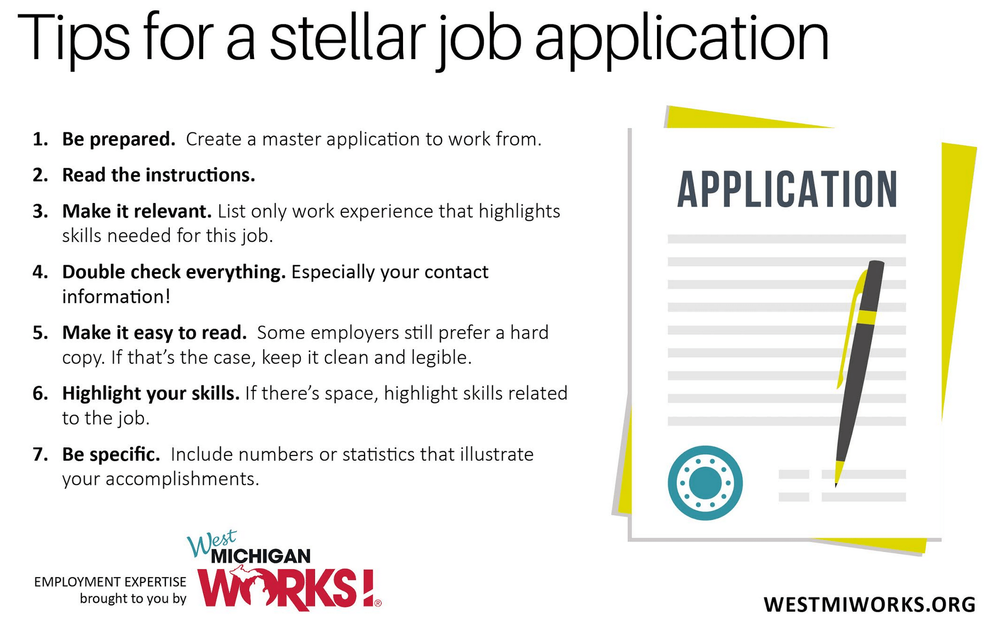 employment expertise seven tips for a stellar job application