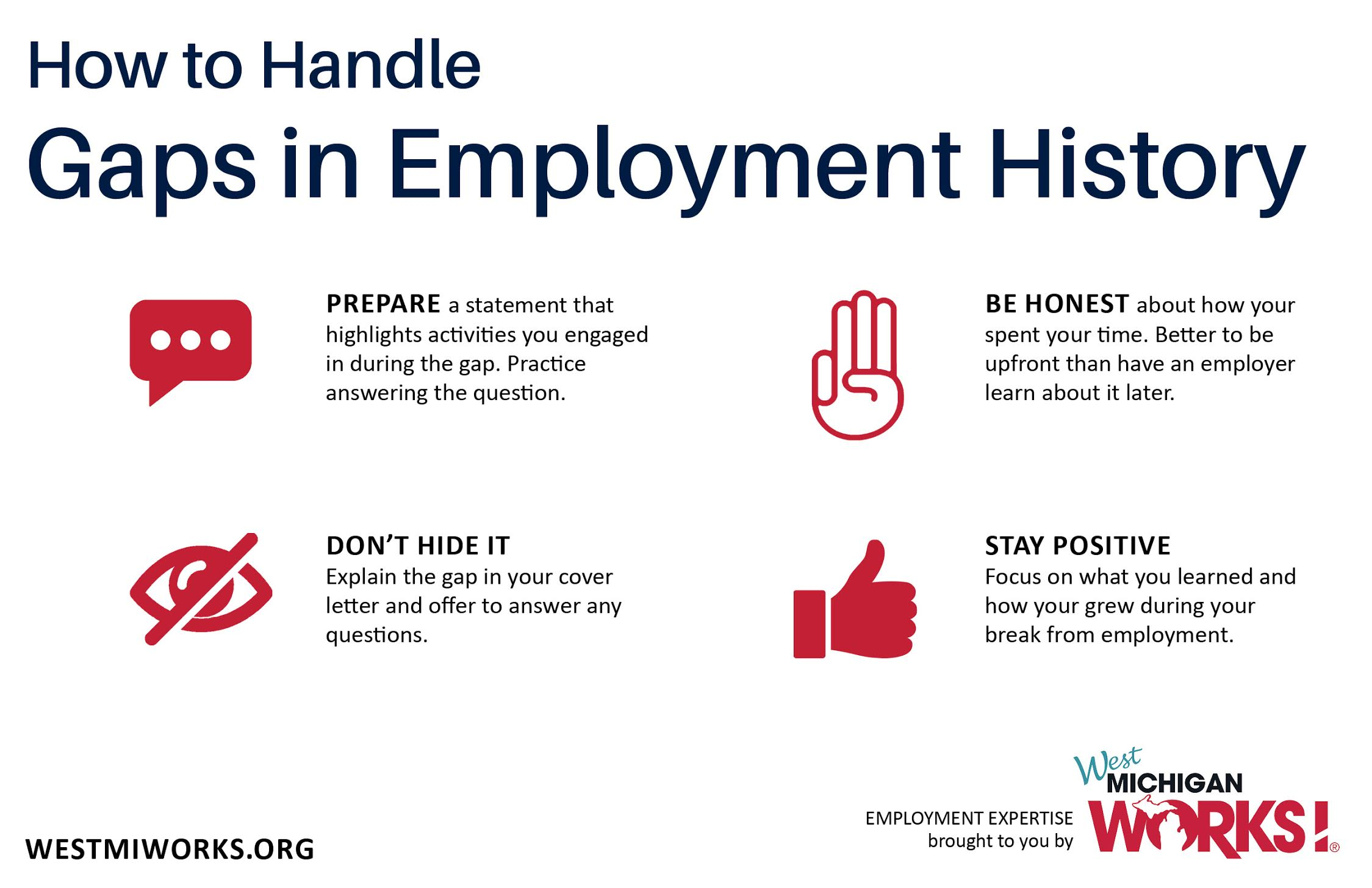 12 Tips to Explain Gaps in Your Employment History